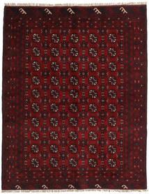 アフガン 絨毯 149X188 オリエンタル 手織り 深紅色の/濃い茶色 (ウール, アフガニスタン)