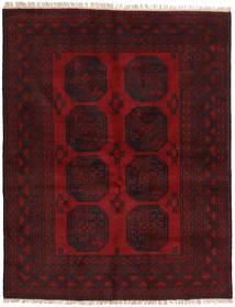 Afghan Matta 146X188 Äkta Orientalisk Handknuten Mörkbrun/Mörkröd (Ull, Afghanistan)