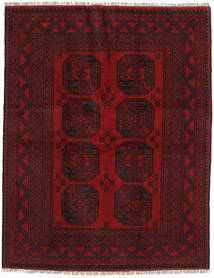 Afghan Rug 147X190 Authentic  Oriental Handknotted Dark Red/Dark Brown (Wool, Afghanistan)