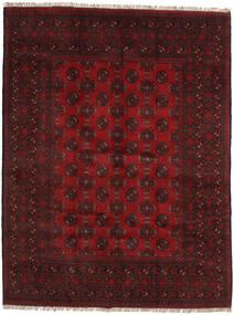 Afghan Rug 146X192 Authentic Oriental Handknotted Dark Red/Crimson Red (Wool, Afghanistan)