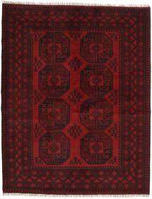 Afghan Covor 153X193 Orientale Lucrat Manual Maro Închis/Roșu-Închis (Lână, Afganistan)