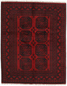 Afghan Rug 150X192 Authentic  Oriental Handknotted Dark Brown/Dark Red (Wool, Afghanistan)