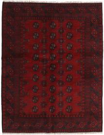 Afghan Rug 150X193 Authentic Oriental Handknotted Dark Red/Dark Brown (Wool, Afghanistan)