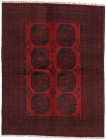 アフガン 絨毯 145X189 オリエンタル 手織り 濃い茶色/深紅色の (ウール, アフガニスタン)