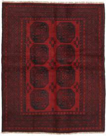 Afghan Matta 145X185 Äkta Orientalisk Handknuten Mörkröd (Ull, Afghanistan)