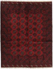 Afghán Koberec 151X188 Orientální Ručně Tkaný Tmavě Červená (Vlna, Afghánistán)