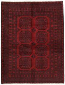 Afghan Rug 148X192 Authentic  Oriental Handknotted Dark Red/Dark Brown (Wool, Afghanistan)