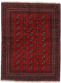 Afghan Matta 145X193 Äkta Orientalisk Handknuten Mörkröd/Mörkbrun (Ull, Afghanistan)