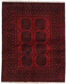 Afghan Rug 148X190 Authentic Oriental Handknotted Dark Brown/Dark Red (Wool, Afghanistan)