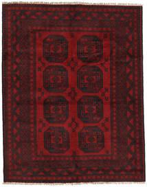 Afghan Rug 147X188 Authentic  Oriental Handknotted Dark Brown/Dark Red (Wool, Afghanistan)
