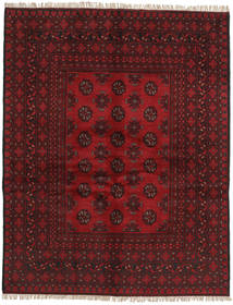 Afghan Tappeto 149X189 Orientale Fatto A Mano Rosso Scuro (Lana, Afghanistan)