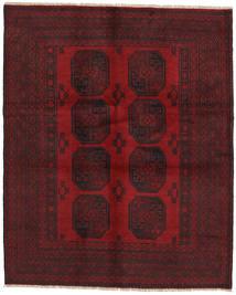 Afghan Rug 152X187 Authentic  Oriental Handknotted Dark Red/Dark Brown (Wool, Afghanistan)