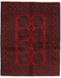 Afghan Matto 150X190 Itämainen Käsinsolmittu Tummanpunainen/Punainen (Villa, Afganistan)