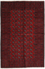 Afghan Rug 156X242 Authentic  Oriental Handknotted Dark Red/Dark Brown (Wool, Afghanistan)