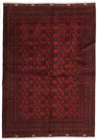 Afghán Koberec 167X234 Orientální Ručně Tkaný Tmavě Červená (Vlna, Afghánistán)
