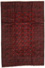 Afghan Rug 158X240 Authentic  Oriental Handknotted Dark Red (Wool, Afghanistan)