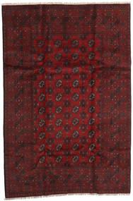 Afghan Rug 158X240 Authentic  Oriental Handknotted Dark Red (Wool, Afghanistan)