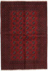 Afghan Rug 158X234 Authentic  Oriental Handknotted Dark Red/Dark Brown (Wool, Afghanistan)