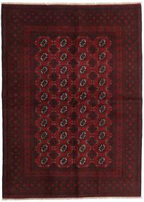 Afghan Χαλι 169X232 Ανατολής Χειροποιητο Σκούρο Κόκκινο/Σκούρο Καφέ (Μαλλί, Αφγανικά)