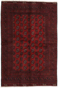 Afghan Rug 155X234 Authentic  Oriental Handknotted Dark Red/Dark Brown (Wool, Afghanistan)