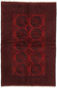 Afghan Covor 153X235 Orientale Lucrat Manual Roșu-Închis/Maro Închis (Lână, Afganistan)