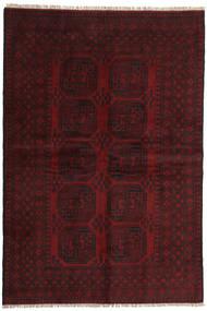 Afghan Matto 159X237 Itämainen Käsinsolmittu Tummanruskea/Tummanpunainen (Villa, Afganistan)