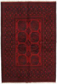 Afghan Rug 162X234 Authentic  Oriental Handknotted Dark Red/Crimson Red (Wool, Afghanistan)