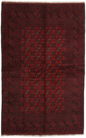 Afghan Rug 156X245 Authentic  Oriental Handknotted Dark Red (Wool, Afghanistan)