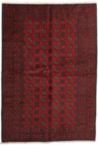 Afghan Rug 162X236 Authentic  Oriental Handknotted Dark Red (Wool, Afghanistan)