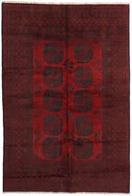 Afghan Rug 161X242 Authentic  Oriental Handknotted Dark Red/Crimson Red (Wool, Afghanistan)