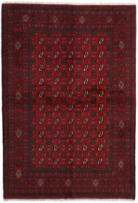 Afghan Rug 164X240 Authentic  Oriental Handknotted Dark Red (Wool, Afghanistan)