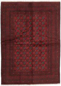 Afghan Matto 169X236 Itämainen Käsinsolmittu Tummanpunainen (Villa, Afganistan)