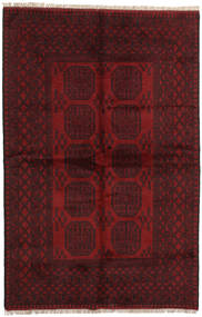 Afghan Rug 157X242 Authentic  Oriental Handknotted Dark Red/Dark Brown (Wool, Afghanistan)