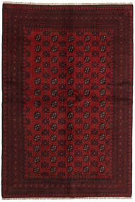 Afghan Rug 159X234 Authentic  Oriental Handknotted Dark Red/Crimson Red (Wool, Afghanistan)
