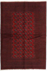 Afghan Rug 166X242 Authentic  Oriental Handknotted Dark Red (Wool, Afghanistan)