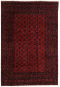 Afghan Matta 198X288 Äkta Orientalisk Handknuten Mörkbrun/Mörkröd (Ull, Afghanistan)