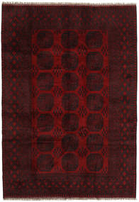 Afghan Rug 202X290 Authentic  Oriental Handknotted Dark Red (Wool, Afghanistan)