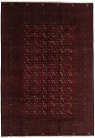 Afghan Rug 200X287 Authentic  Oriental Handknotted Dark Brown/Dark Red (Wool, Afghanistan)