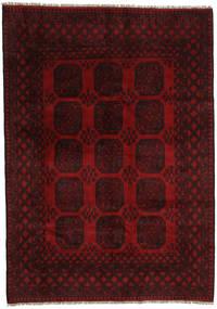 Afghán Koberec 199X282 Orientální Ručně Tkaný Tmavě Hnědá/Tmavě Červená (Vlna, Afghánistán)