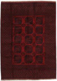 Afghan Matto 199X275 Itämainen Käsinsolmittu Tummanpunainen (Villa, Afganistan)