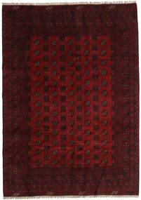 Afghan Matto 197X277 Itämainen Käsinsolmittu Tummanruskea/Tummanpunainen (Villa, Afganistan)