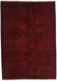 Afghan Matto 209X295 Itämainen Käsinsolmittu Tummanruskea/Tummanpunainen (Villa, Afganistan)