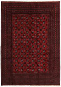Afghan Matto 201X285 Itämainen Käsinsolmittu Tummanruskea/Tummanpunainen (Villa, Afganistan)