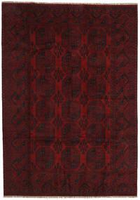 Afghan Matto 200X284 Itämainen Käsinsolmittu Tummanruskea/Tummanpunainen (Villa, Afganistan)