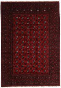 Afghan Matta 196X281 Äkta Orientalisk Handknuten Mörkröd (Ull, Afghanistan)