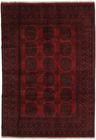 Afghan Rug 199X289 Authentic  Oriental Handknotted Dark Brown/Dark Red (Wool, Afghanistan)