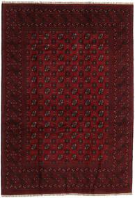 Afghan Vloerkleed 198X285 Echt Oosters Handgeknoopt Donkerrood/Donkerbruin (Wol, Afghanistan)