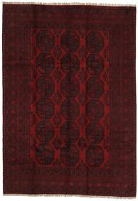 Afghan Rug 203X289 Authentic  Oriental Handknotted Dark Brown/Dark Red (Wool, Afghanistan)