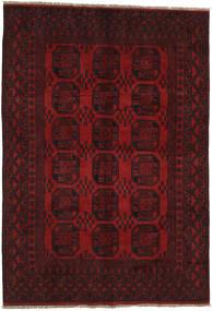 アフガン 絨毯 196X283 オリエンタル 手織り 深紅色の/赤 (ウール, アフガニスタン)