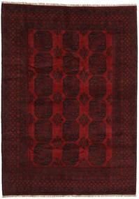 Afghan Tapis 206X290 D'orient Fait Main Marron Foncé/Rouge Foncé (Laine, Afghanistan)